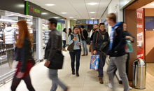 Students at retail and food outlets