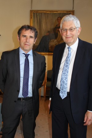 Swansea University Vice-Chancellor Professor Richard B Davies (right) and his co